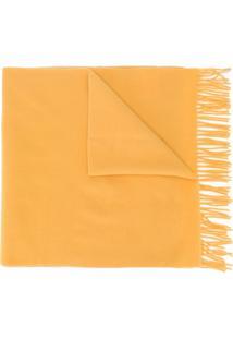 Moncler Cachecol Com Franjas - Amarelo