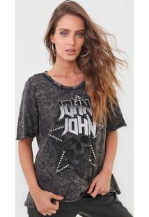 Camiseta John John Caveira Grafite - Kanui