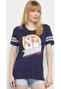 Camiseta T-Shirt Carmim California Feminina - Feminino