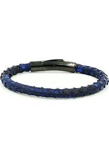Pulseira Single Python Dark Blue