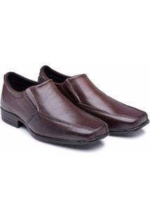 Sapato Social Infantil Em Couro Elegante Schiareli - Masculino-Marrom