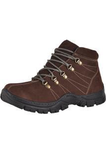 Bota Adventure Couro Nobuck Difranca Boots 1011 Cafe