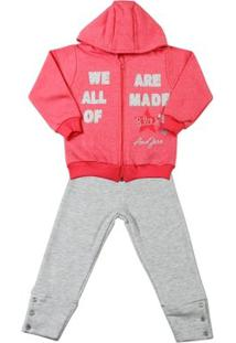 Conjunto Infantil Moletom Dust We Are All Made Of - Feminino-Rosa