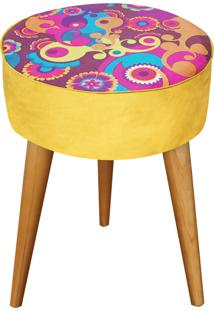 Banqueta Renata Sader Redonda Solarium Amarelo 37X37X50Cm