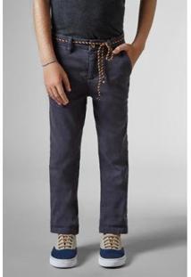 Calça Mini Sm Alfaiate Estique Se Reserva Minin Masculino - Masculino-Azul Escuro