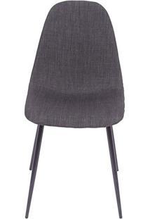 Cadeira Charla- Grafite & Preta- 85,5X45X40Cm- Oor Design