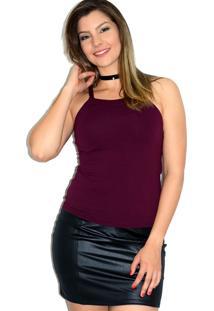 Blusa Up Side Wear De Alcinha Vinho