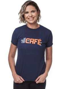 Camiseta Funfit Camiseta Feminina Funfit - So Pego Com Café Azul