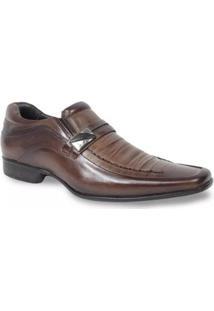 Sapato Social Couro Rafarillo Las Vegas Fivela Masculino - Masculino-Marrom Claro