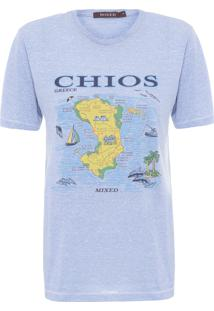 Camiseta Feminina Greece - Azul