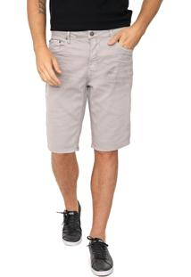 Bermuda Sarja Calvin Klein Jeans Reta Dirty Cinza
