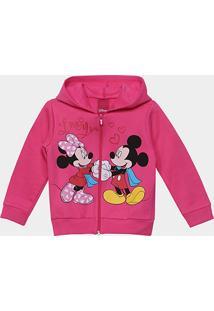 Jaqueta Mickey E Minnie Infantil Cativa Em Moletom Feminina - Feminino 99ed649065