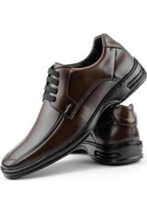 Sapato Conforto Dhl Elástico Masculino - Masculino-Marrom