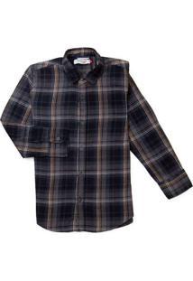 Camisa Mini Pf Ml Jeans Delave Reserva Mini Azul