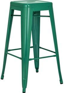 Banqueta Alta Iron Tolix - Industrial - Aço - Vintage - Verde Escuro