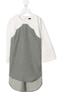 Owa Yurika Vestido Listrado - Branco