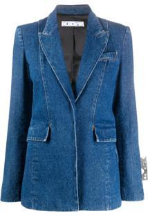 Off-White Jaqueta Jeans Slim - Azul
