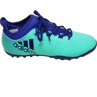 db862471fdb Chuteira Society X Tango 17.3 Adidas Verde E Azul