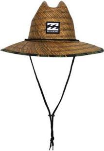Chapéu De Palha Billabong Tides Brown Print Camo - Masculino