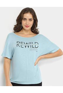 Camiseta Forum Rewild Taste For The Nature Feminina - Feminino-Azul Escuro