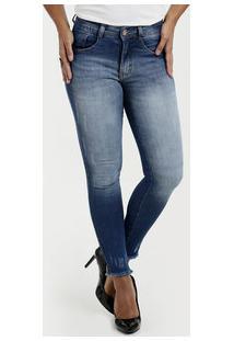 Calça Feminina Jeans Skinny Puídos Biotipo 42c4f5bd55a