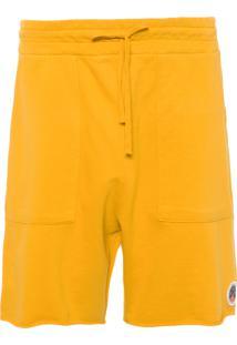Bermuda Casual Masculina Moletom Colour - Amarelo