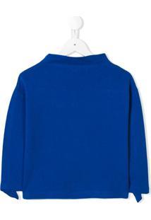 Il Gufo Blusa De Tricô Com Babado - Azul