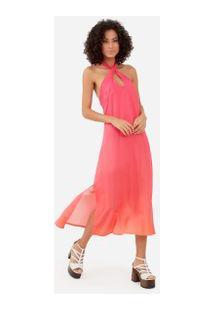 Vestido Degradê Decote - Rosa Pp