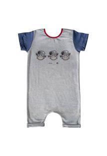 Pijama Curto Comfy Menino Maluquinho Humor