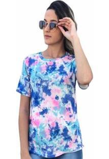 Camiseta D Bell Tie Dye Feminina - Feminino-Coral