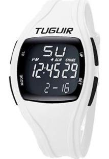 Relógio Tuguir Digital Tg1602 Feminino - Feminino-Branco+Preto