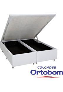 Box King Com Baú - Bi-Partido - Corino Branco - Ortobom