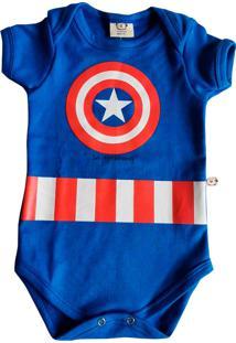 Body Bebê Infantil Milkfun Capitão América