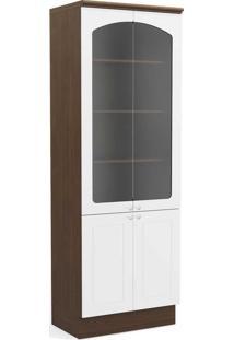 Paneleiros Provenzza 4 Portas Com Vidro Jacarandá/Branco - Kappesberg