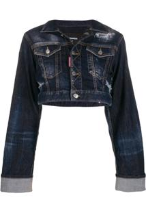 Dsquared2 Cropped Denim Jacket - Azul