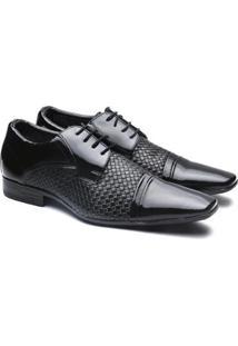 Sapato Social Versales Confort Masculino - Masculino-Preto+Cinza