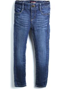 Calça Jeans Tommy Hilfiger Kids Menino Lisa Azul-Marinho