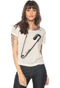 Camiseta Cavalera Safety Pin Off-White