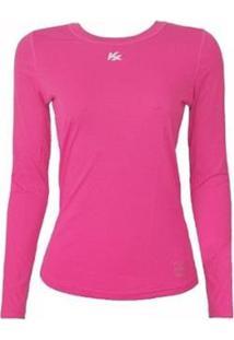 Camisa Infantil Proteção Solar Uv50 Feminina - Feminino-Pink