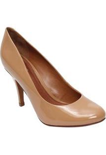 Schutz Sapato Tradicional Envernizado Caramelo Salto: 9Cm