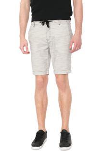 Bermuda Sarja Calvin Klein Jeans Color Chino Branca