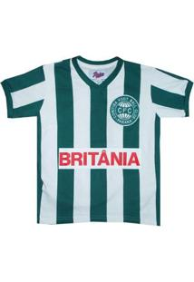 Camisa Infantil Liga Retrô Coritiba 1985 - Masculino-Verde+Branco