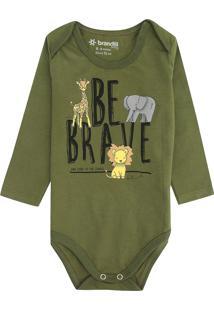 Body Brandili Infantil Be Brave Verde