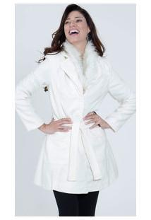 Casaco Feminino Trench Coat Pêlos Marisa