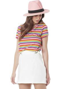 Camiseta Colorida Serinah Brand Listras
