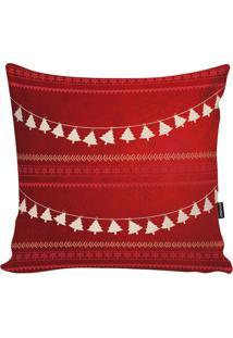 Capa Para Almofada Natalina- Vermelha & Branca- 45X4Stm Home