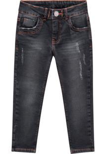 Calã§A Jeans Infantil Menino Milon Preto - Preto - Menino - Algodã£O - Dafiti