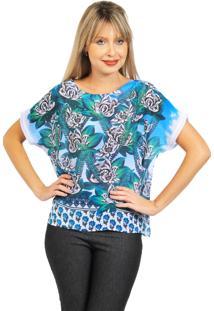 Blusa Tunica 101 Resort Wear Azul