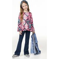1dc44a3d3 Conjunto Infantil Menina Com Calça E Blusa Flare Puc [] []