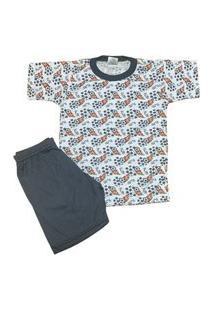 Pijama Infantil Malha Fria Kidsline Futebol